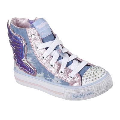 Skechers Twinkle Toes Shuffles Flutter Girls Sneakers - Little Kids