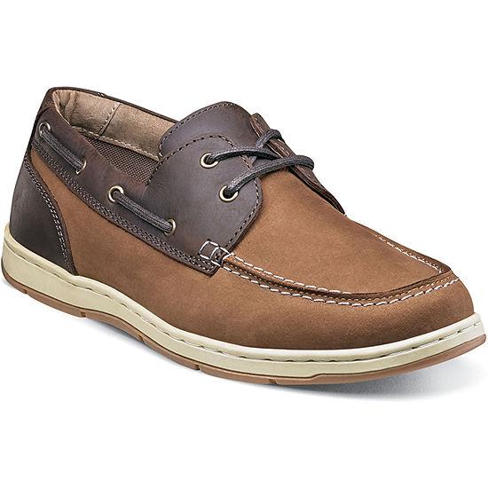 Nunn Bush Schooner Men's Moc Toe Two-eye Boat Shoe
