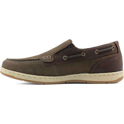 Nunn Bush Sloop Men's Moc Toe Slip-on Casual Shoes