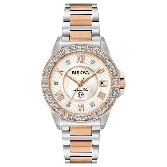 Bulova Womens Two Tone Bracelet Watch-98r234