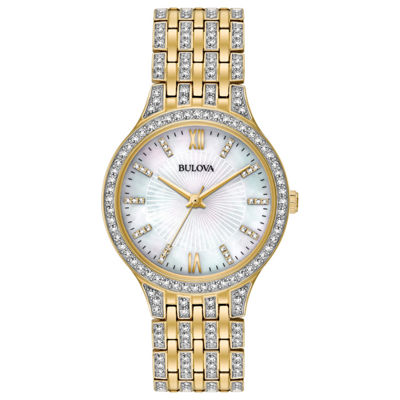Bulova Womens Gold Tone Bracelet Watch-98l234