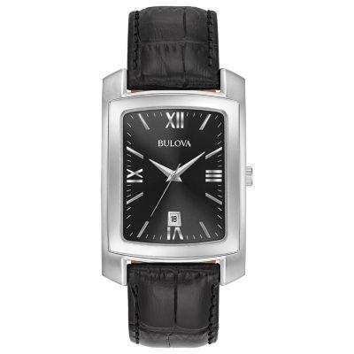 Bulova Mens Black Strap Watch-96b269