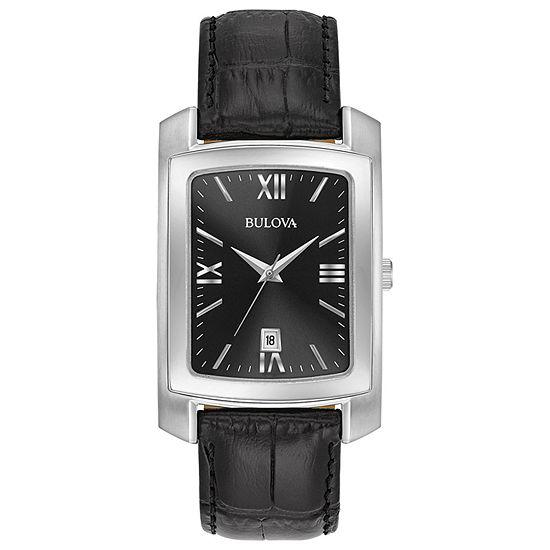 Bulova Classic Mens Black Strap Watch-96b269