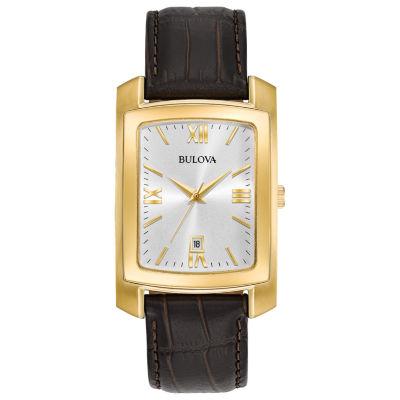 Bulova Mens Brown Strap Watch-97b162