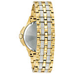 Bulova Octava Mens Gold Tone Bracelet Watch-98c126