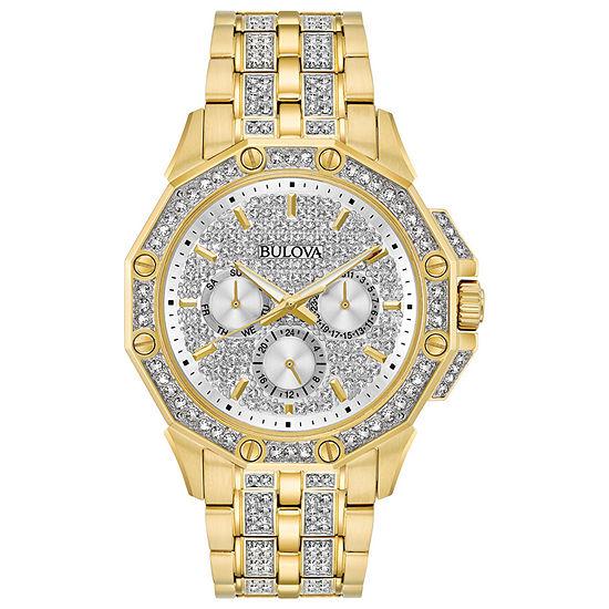 Bulova Octava Mens Gold Tone Bracelet Watch - 98c126