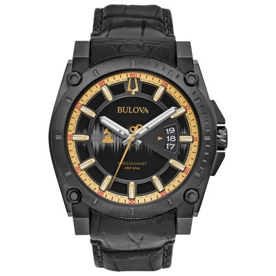Bulova Mens Black Strap Watch-98b293