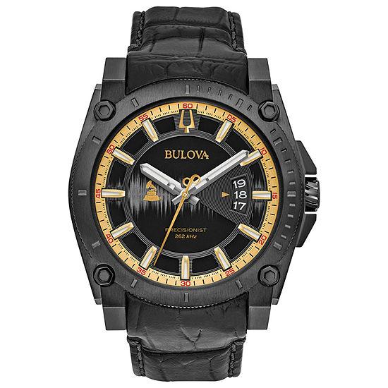 Bulova Mens Black Strap Watch 98b293