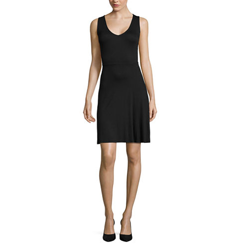 a.n.a V-Neck Fit-and-Flare Dress