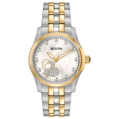 Bulova Womens Two Tone Bracelet Watch-98p152