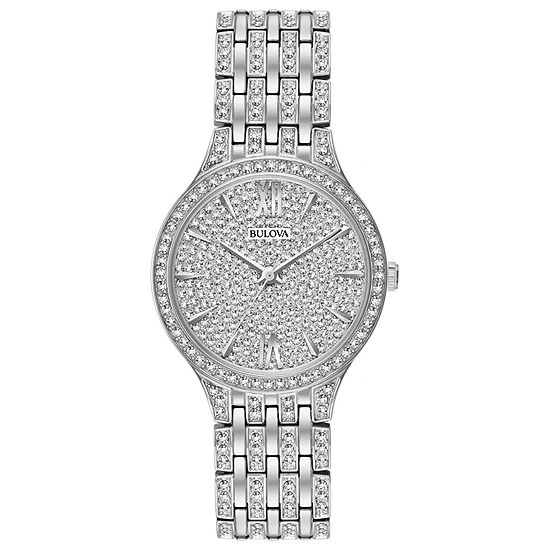 Bulova Phantom Womens Silver Tone Stainless Steel Bracelet Watch-96l243