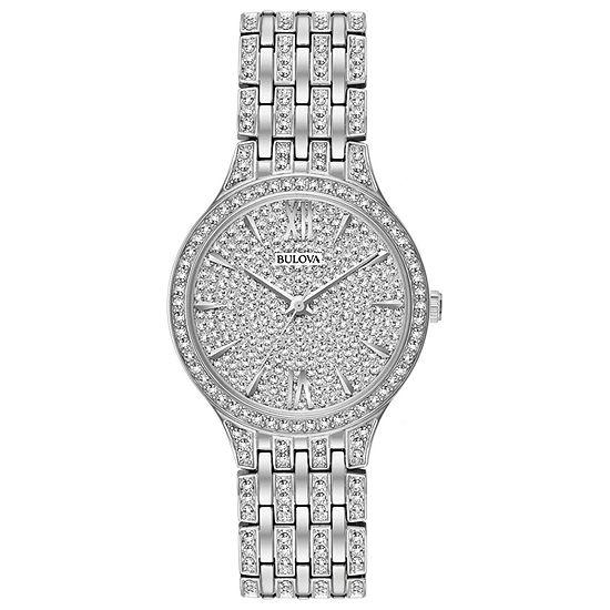Bulova Phantom Womens Silver Tone Stainless Steel Bracelet Watch-96l243