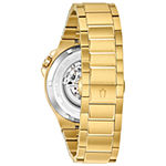 Bulova Maquina Mens Automatic Gold Tone Stainless Steel Bracelet Watch-98a178