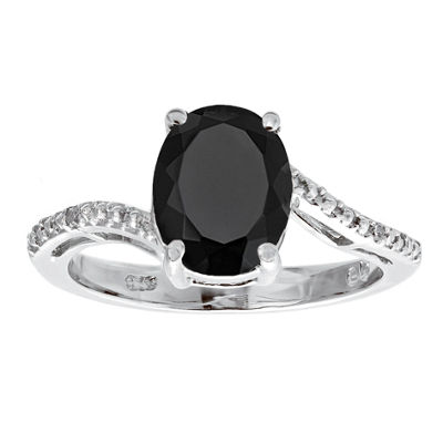 Fine Jewelry Womens Diamond Accent White Diamond Sterling Silver Cocktail Ring MAhDT13