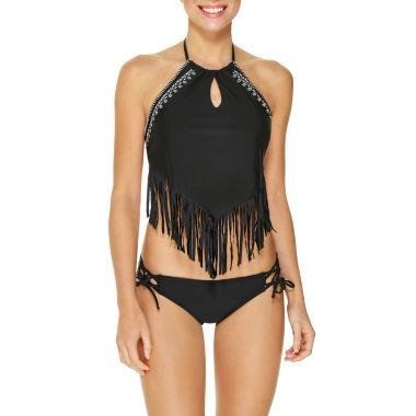 jcpenney.com | Arizona Fringe High Neck Swimsuit Top or Hipster Bottom-Juniors