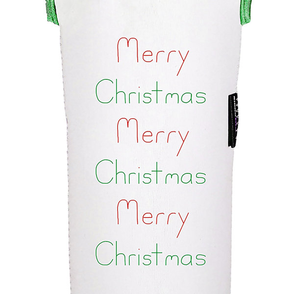 Merry Christmas Reversible Wine Tote