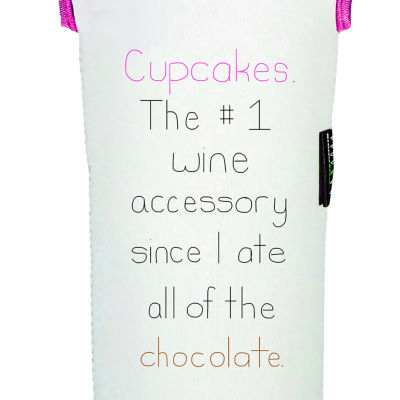 Cupcakes And Wine Reversible Wine Tote