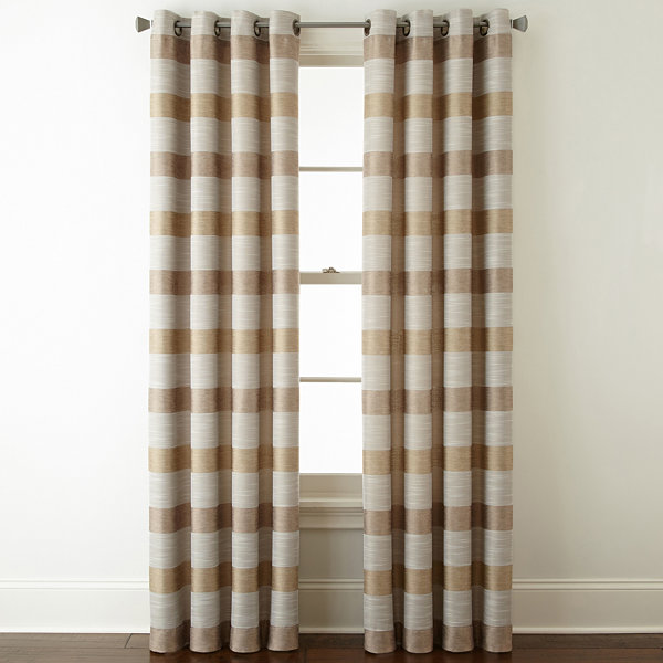 Wonderful Studio Tempest Stripe Grommet Top Curtain Panel
