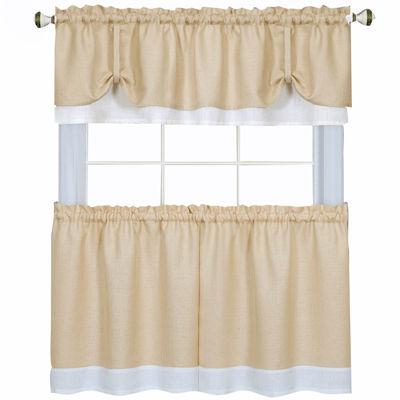 Darcy 3-pc. Rod-Pocket Kitchen Curtain Set