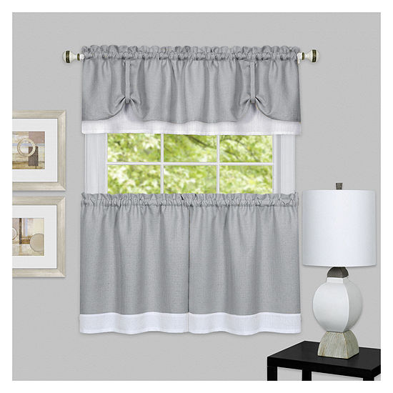 Darcy Rod-Pocket Kitchen Curtain Set
