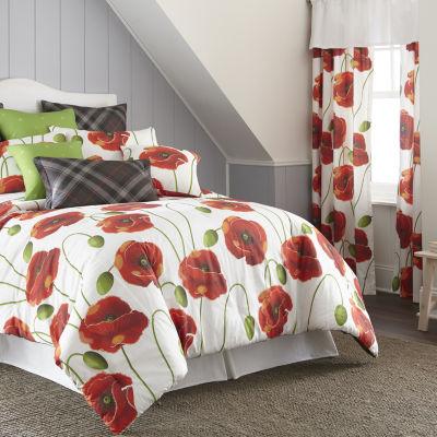 Poppy Plaid Comforter Set