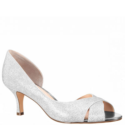 I. Miller Womens Candra Pumps Slip-on Peep Toe Stiletto Heel