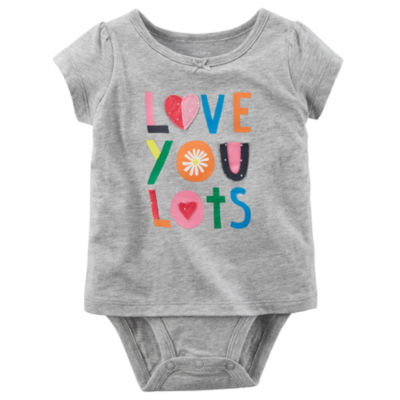 Carter's Embroidered Short Sleeve 2 Layer Bodysuit- Baby Girl NB-24M