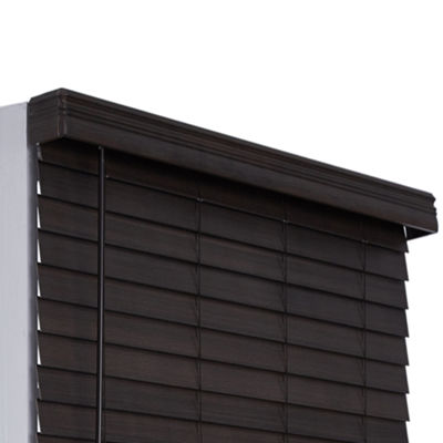 "JCPenney Home Distressed 2 1/2"" Cut-to-Width Faux Wood Blinds"
