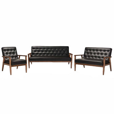 Baxton Studio Sorrento 3-pc. Seating Set