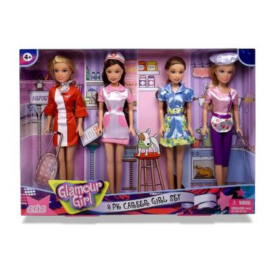 Glamour Girls: 4 Pack Career Doll Set