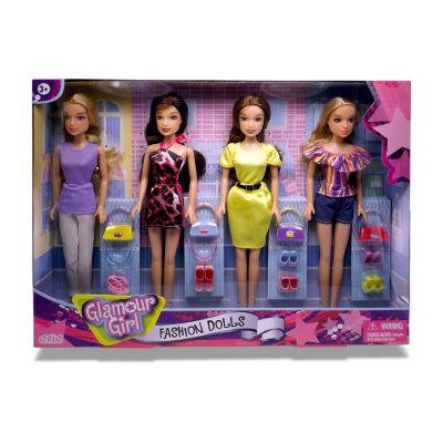 Glamour Girls: 4 Pack Fashion Doll Set
