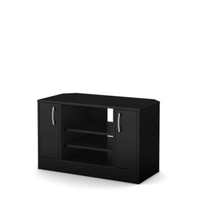 Axess Corner TV Stand with Doors for TVs up to 42''