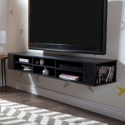 "City Life 66"" Wide Wall Mounted Media Console"