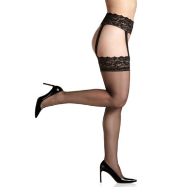 Berkshire Hosiery Thigh Highs With Garter- Plus