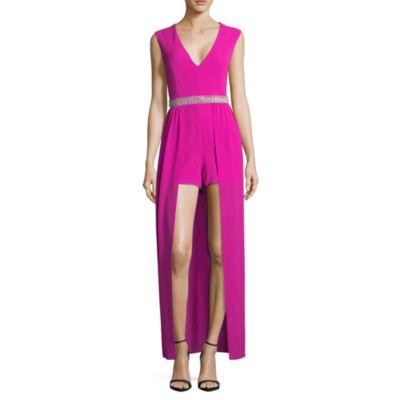 Crystal Sky Sleeveless Embellished Maxi Dress-Juniors