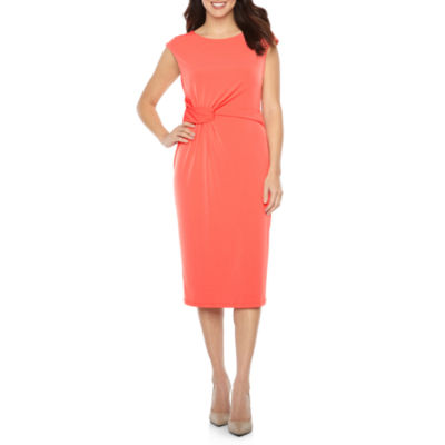 London Style Cap Sleeve Sheath Dress