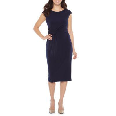 London Style Cap Sleeve Sheath Dress