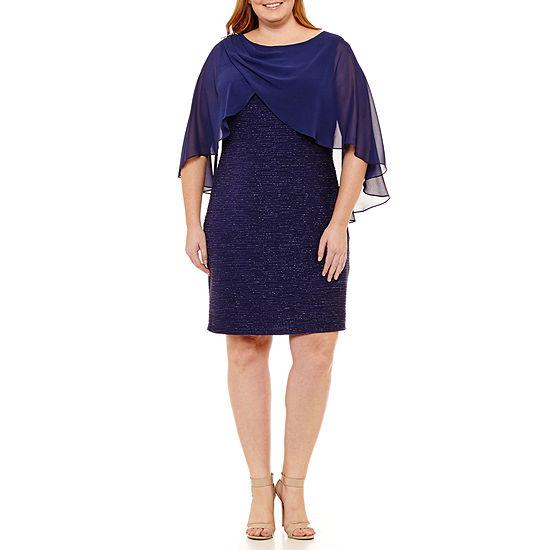 Scarlett Short Sleeve Party Dress - Plus