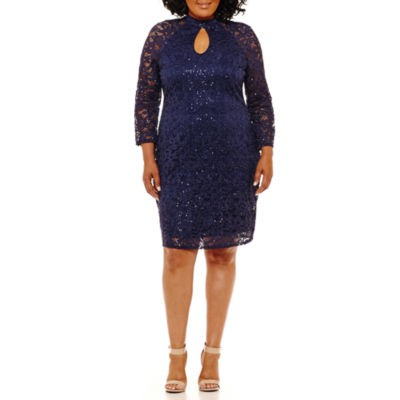 Blu Sage Long Sleeve Party Dress - Plus