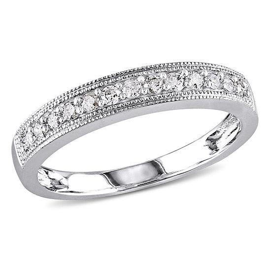 1/4 CT. T.W. Genuine White Diamond 10K Gold Wedding Band