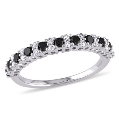 Womens 1/2 CT. T.W. Black Diamond 10K Gold Wedding Band