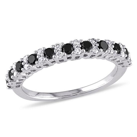 Womens 1/2 CT. T.W. Genuine Black Diamond 10K Gold Wedding Band