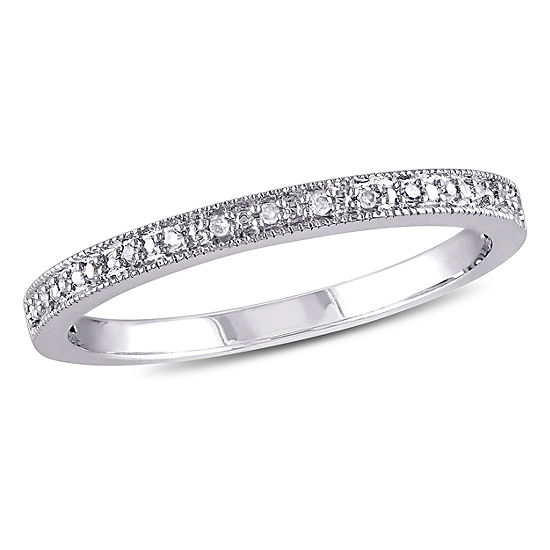 Diamond Accent Genuine White Diamond 10K Gold Wedding Band