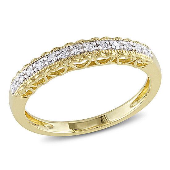 Diamond Accent Genuine White Diamond 10K Gold Wedding Band