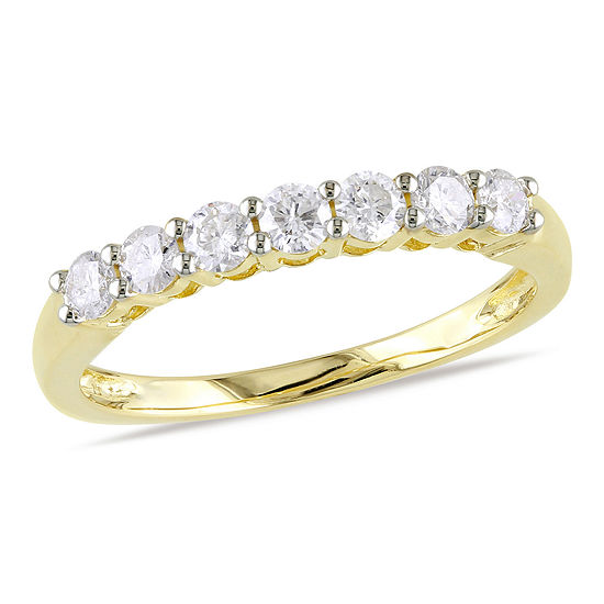 1/2 CT. T.W. Genuine White Diamond 10K Gold Wedding Band