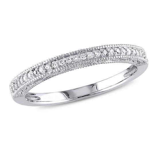 Womens 1 10 Ct Tw Genuine White Diamond 10k Gold Wedding Band