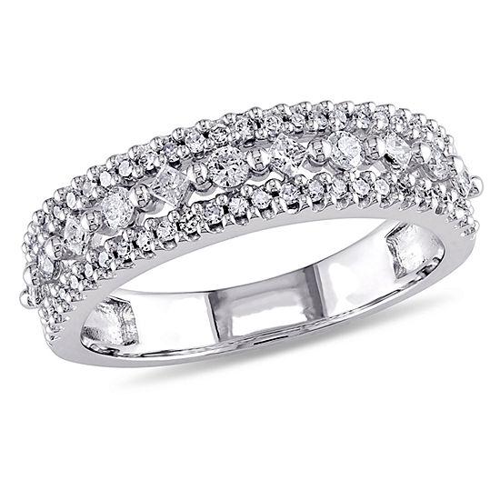 3MM 1/2 CT. T.W. Genuine White Diamond 10K Gold Wedding Band