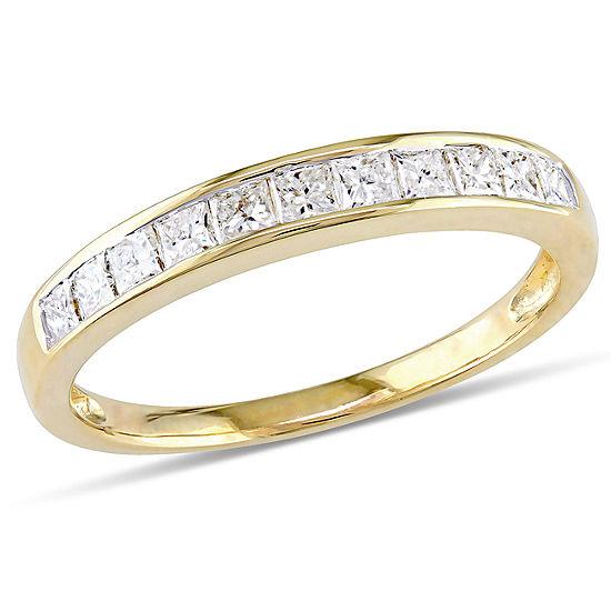 1/2 CT. T.W. Genuine White Diamond 14K Gold Wedding Band