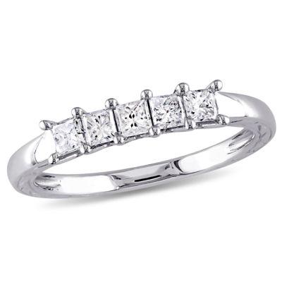 Womens 1/2 CT. T.W. Genuine White Diamond 10K Gold Wedding Band