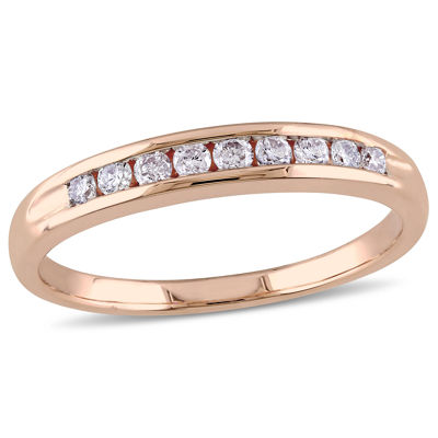 Womens 1/4 CT. T.W. White Diamond 10K Gold Wedding Band